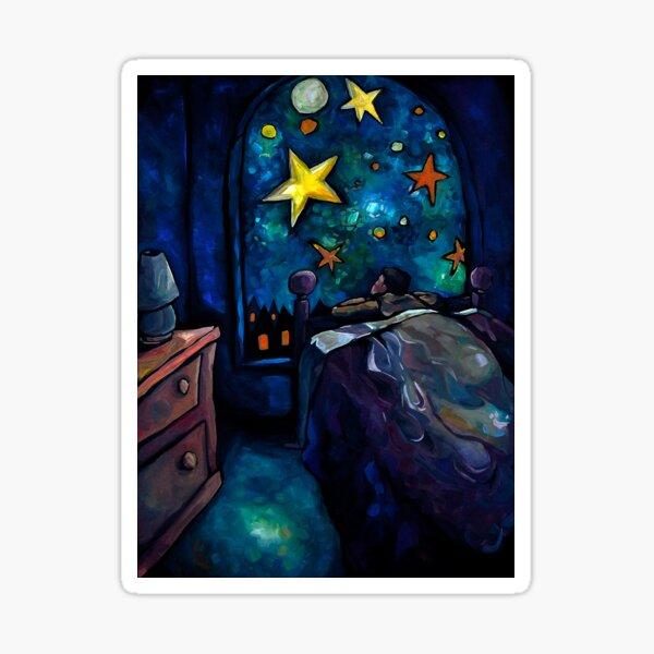 """The Brightest Night Light"" by Chad Elliott Sticker"