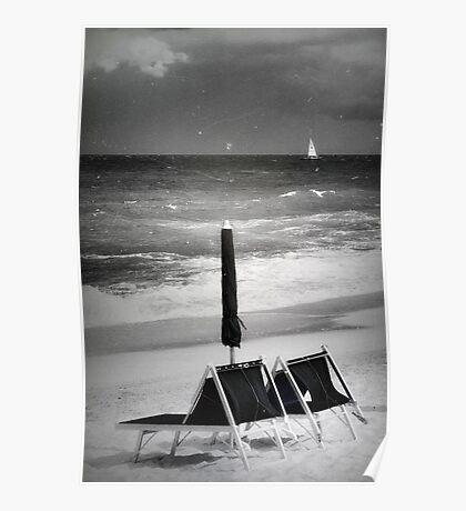 Nostalgia in black and white Poster