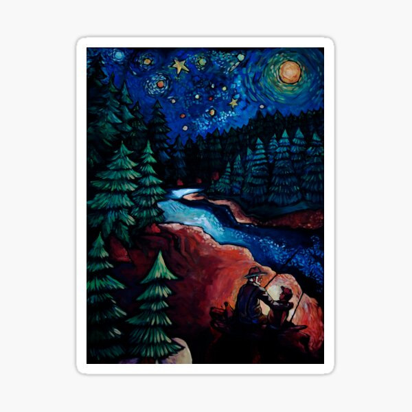 """Fishing Trips"" by Chad Elliott Sticker"