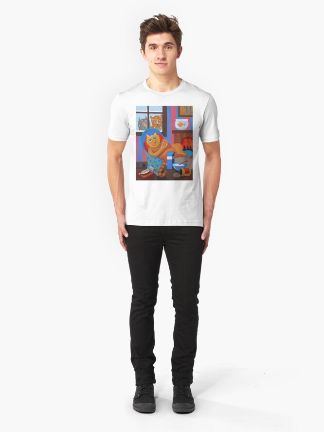 Alternate view of WHAT CATS ? Slim Fit T-Shirt