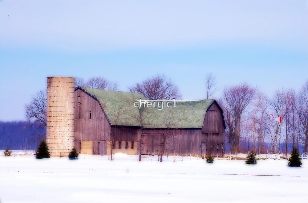 Winter Barn by cherylc1
