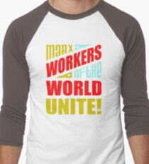 Mark Workers Of The World Unite UO833 Best Product Men's Baseball ¾ T-Shirt