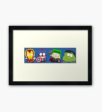 South Park Boys as The Avengers Framed Print