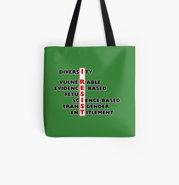 I Resist - Seven Words All Over Print Tote Bag