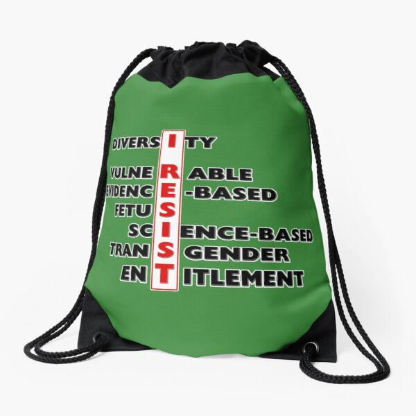 I Resist - Seven Words Drawstring Bag