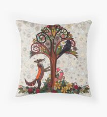 fox and crow Floor Pillow