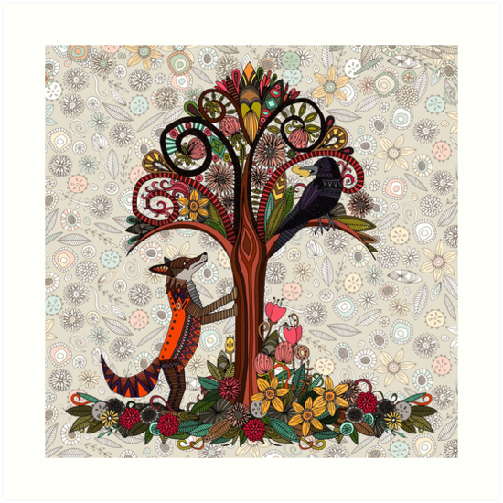 fox and crow by Sharon Turner