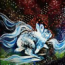 Floral Space Rabbit Galaxy Hopping Ghost by fugitiverabbit