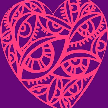 Vector  with beautiful decorative heart  by talanaart