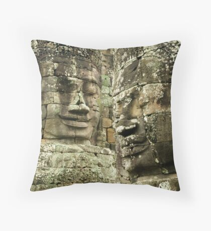 Heads of Stone Throw Pillow