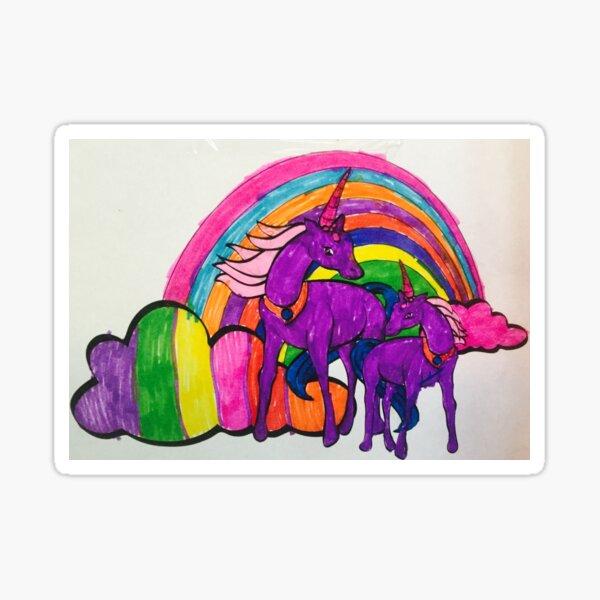 Unicorn rainbows Sticker