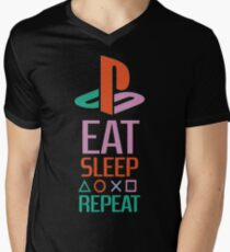 EAT SLEEP PLAYSTATION REPEAT TSHIRT  Men's V-Neck T-Shirt