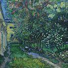 Original Vincent Willem van Gogh Impressionist Art Painting Restored Garden at Asylum at Saint Remy by jnniepce