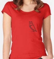 Minimalistic Owl Women's Fitted Scoop T-Shirt