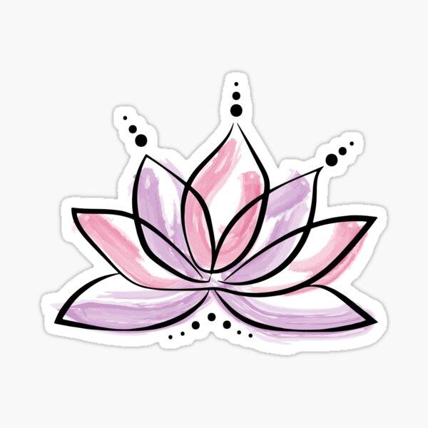 Pink Lotus Sticker