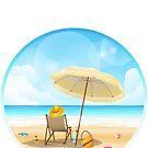 peaceful beach scene by sabrina card