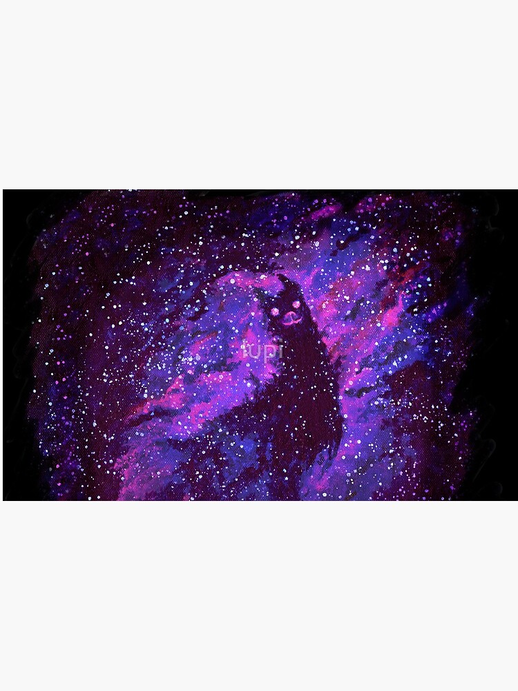 Cosmic Purple Space Llama by lupi