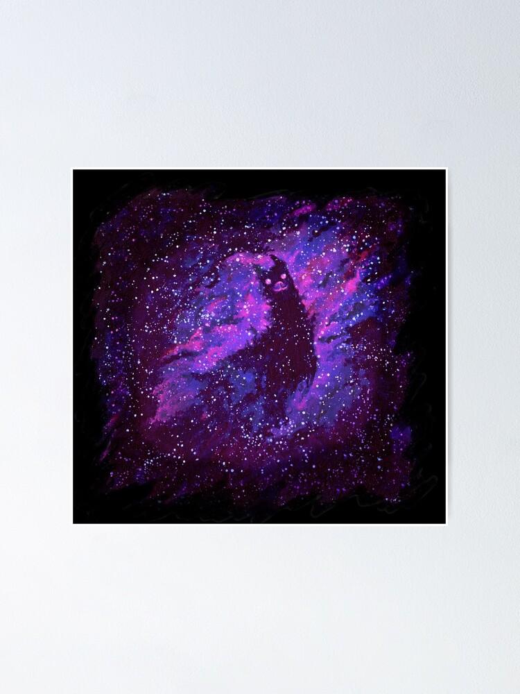 Alternate view of Cosmic Purple Space Llama Poster