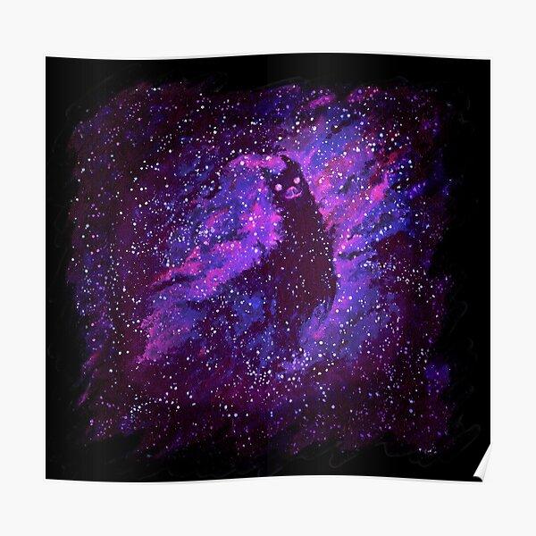 Cosmic Purple Space Llama Poster