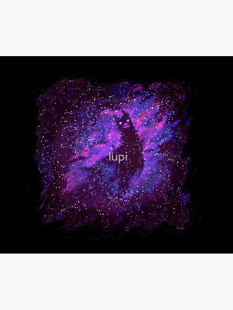 Cosmic Purple Space Llama by lupi