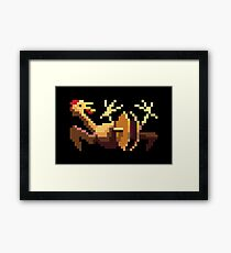 A RUBBER CHICKEN WITH A PULLEY IN THE MIDDLE Framed Print