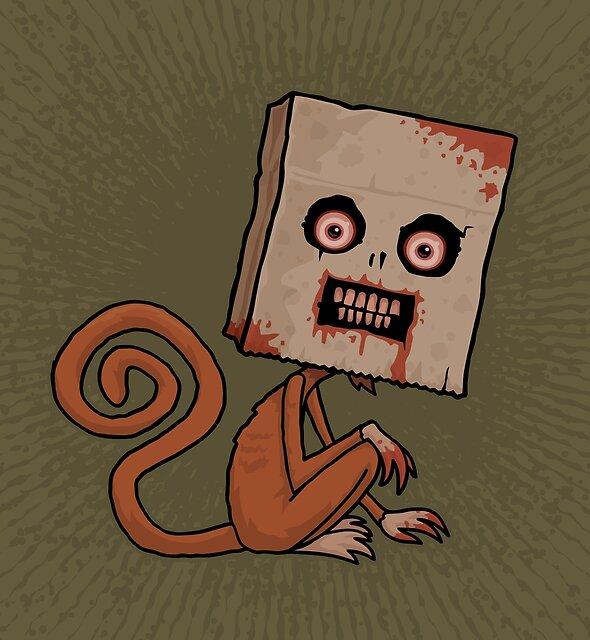Psycho Sack Monkey by fizzgig