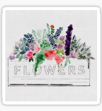 Watercolor Flower Box Sticker