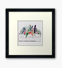 Watercolor Flower Box Framed Print