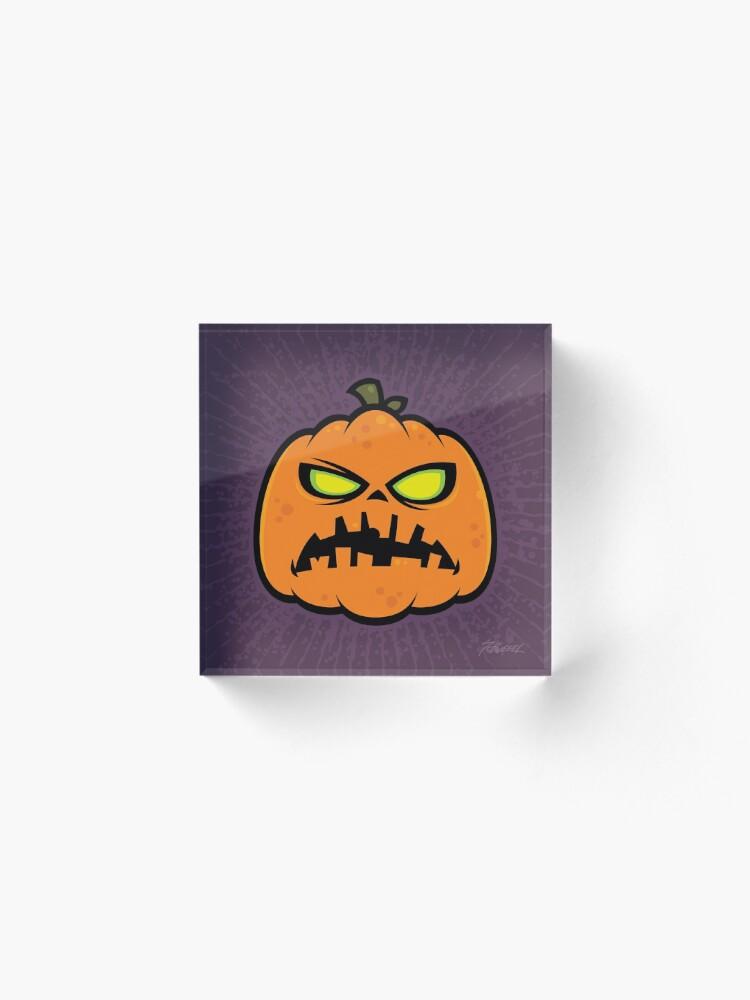 Alternate view of Pumpkin Zombie Acrylic Block