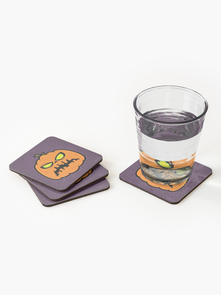 Alternate view of Pumpkin Zombie Coasters (Set of 4)