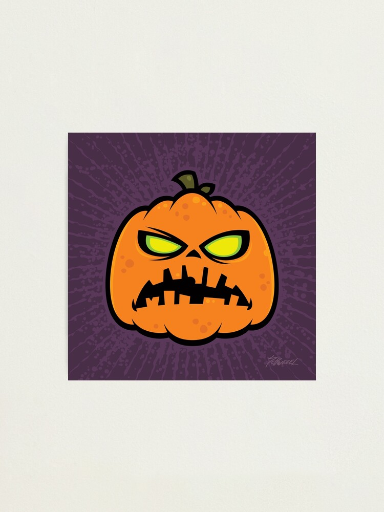 Alternate view of Pumpkin Zombie Photographic Print