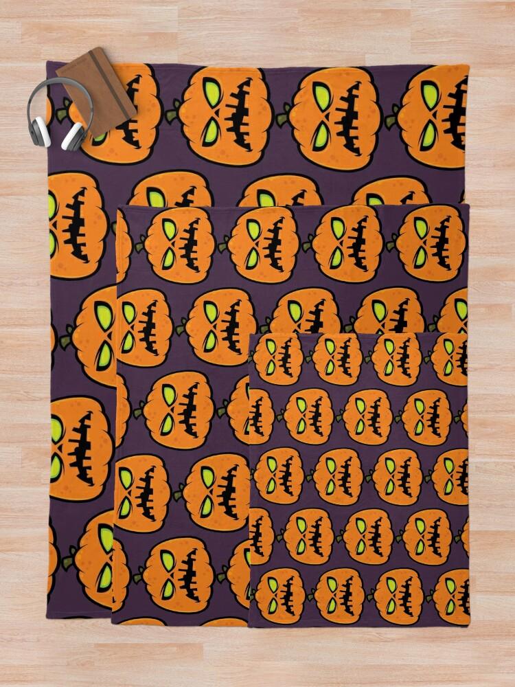 Alternate view of Pumpkin Zombie Throw Blanket