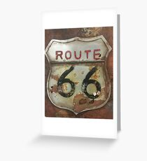 Route 66 on tin Greeting Card