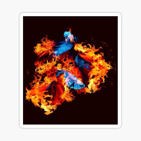 Flaming Betta Sticker