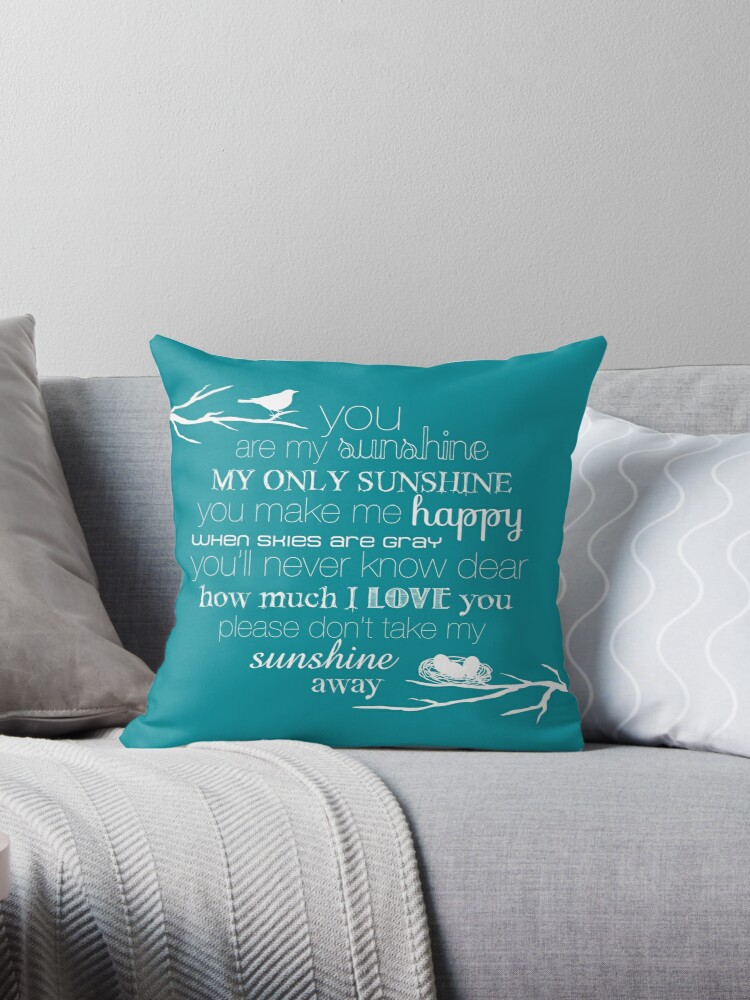 You Are My Sunshine – Nest – Square – White  by Janelle Wourms