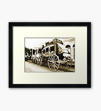 Wells Fargo Stage Coach Framed Print