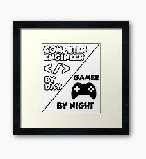 Gamer programmer T shirt Framed Print