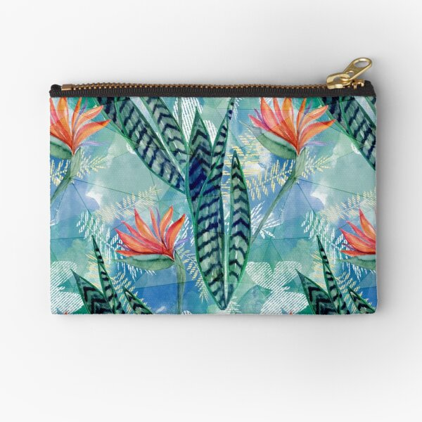 Tropical flowers. Zipper Pouch