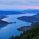 Dawn time on Annecy lake by Patrick Morand