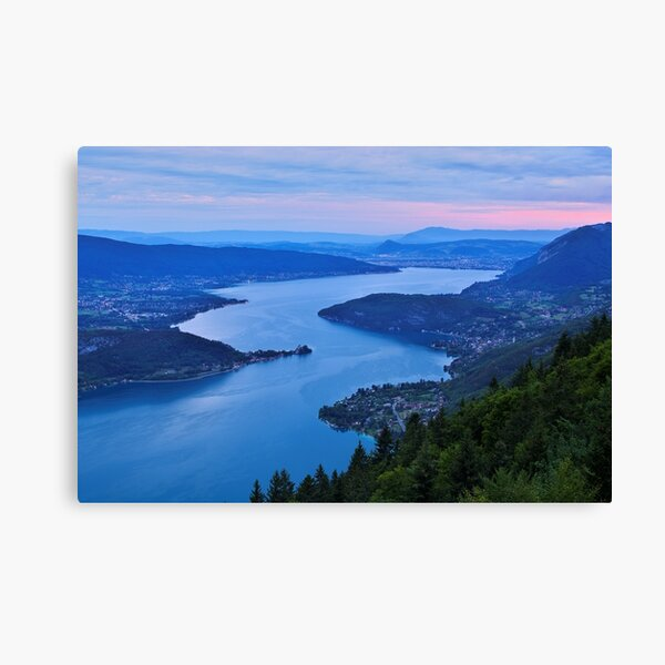 Dawn time on Annecy lake Canvas Print