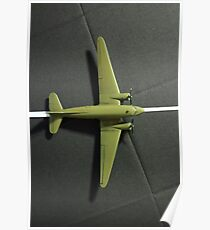 airplane on the runway Poster
