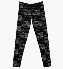 A3 8V shirt silhouette contour drawing Leggings
