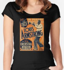 Louis Armstrong Vintage Women's Fitted Scoop T-Shirt