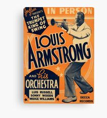 Louis Armstrong Vintage Canvas Print
