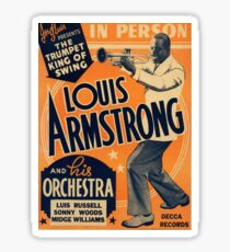 Louis Armstrong Vintage Sticker