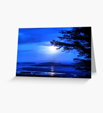 Sea of Tranquility - Moonlight in Mulranny Greeting Card