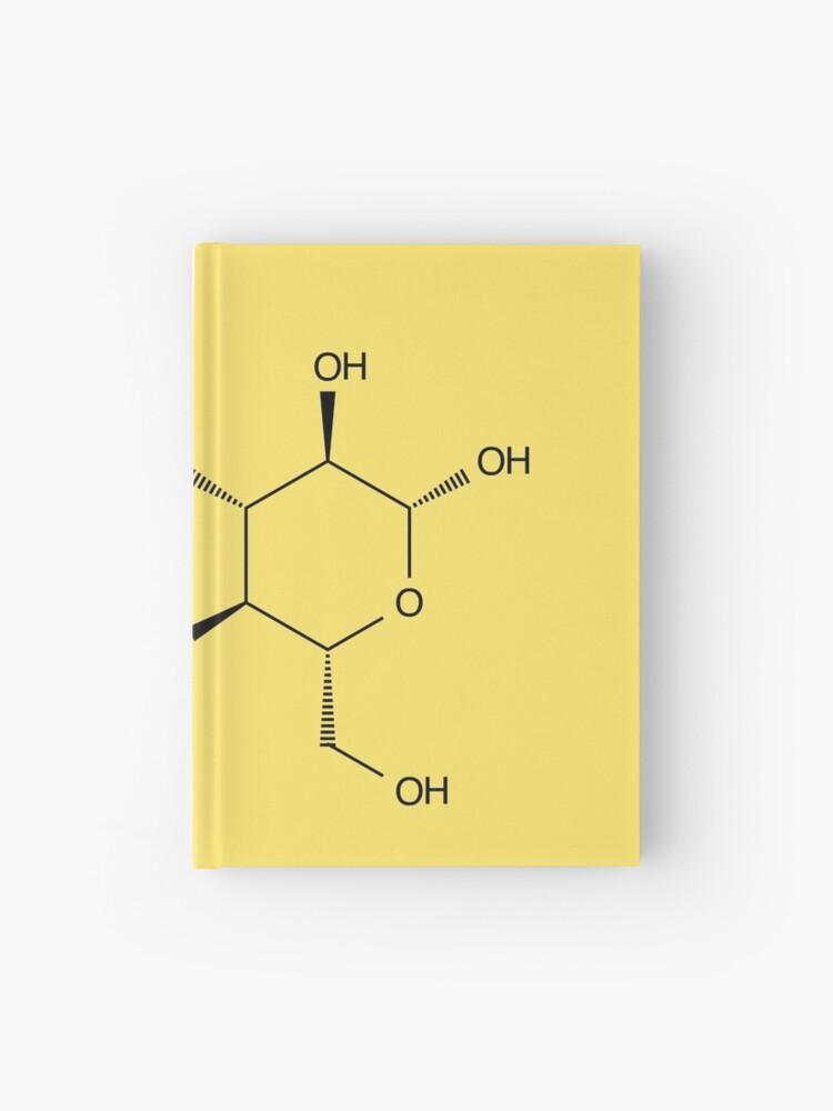 Estructura Lactosa Azúcar De La Leche Molécula Química Cuaderno De Tapa Dura