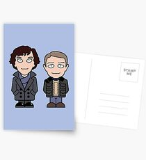 Sherlock und John Mini Leute Postkarten