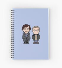 Sherlock and John mini people Spiral Notebook