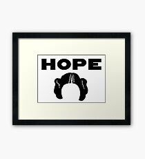 Star Wars Princess Leia Inspired Hope  Framed Print